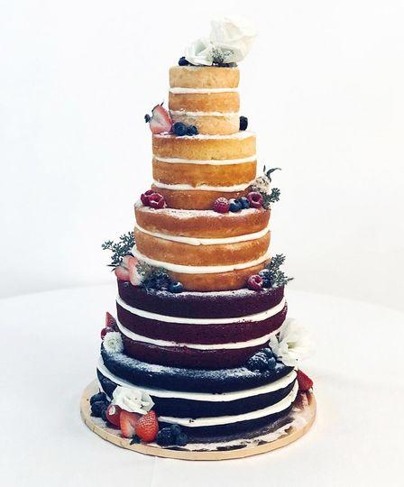 4-Tier Multiple Flavor Cake