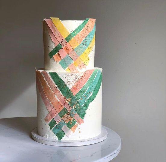 Woven Spring Wedding Cake