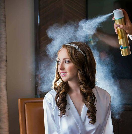 I love this hair spray shot!