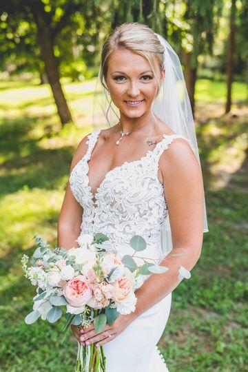 Danielle's bridal makeup