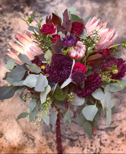 Unique fall bridal bouquet