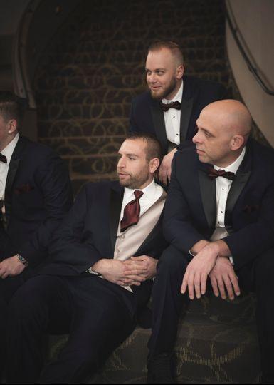 Men waiting.