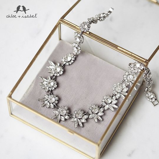 bridal collection frost necklace