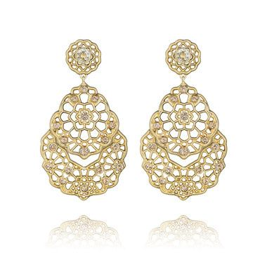 sunlit sahara post drop earrings