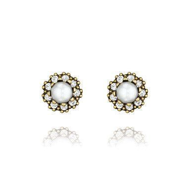 Tmx 1437772202596 Heirloom Pearl And Pave Stud Earrings Concord wedding jewelry