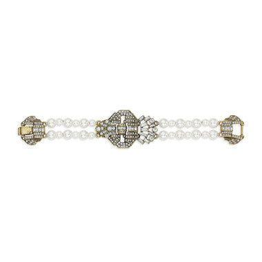 Tmx 1437772205927 Heirloom Pearl Deco Statement Bracelet Concord wedding jewelry