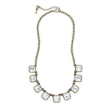 Tmx 1437772233488 Retro Glam Square Cut Clear Crystal Necklace Antiq Concord wedding jewelry