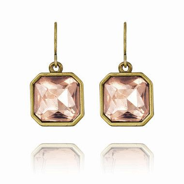Tmx 1437772239575 Retro Glam Square Cut Pink Crystal Earrings Concord wedding jewelry