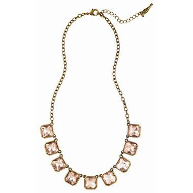 Tmx 1437772241685 Retro Glam Square Cut Pink Crystal Necklace Concord wedding jewelry