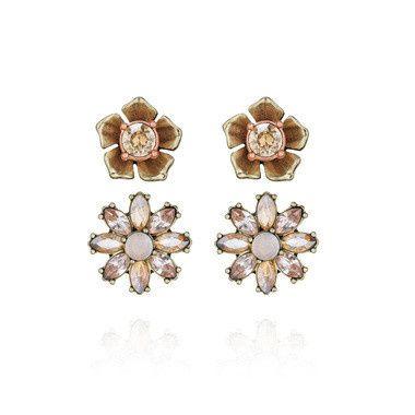 Tmx 1437772427950 Gardenia Stud Duo Earrings Concord wedding jewelry