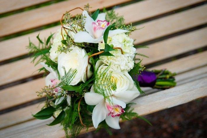 rustic bridal orchids roses