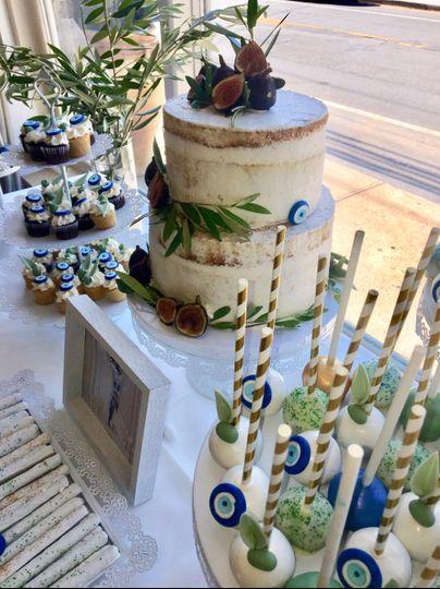 Greek Island Dessert Table
