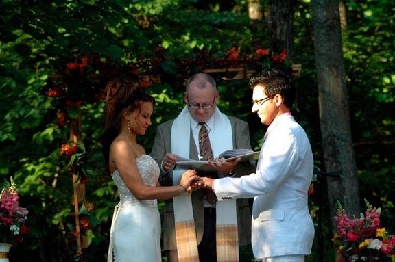 Officiant heading the wedding ceremony