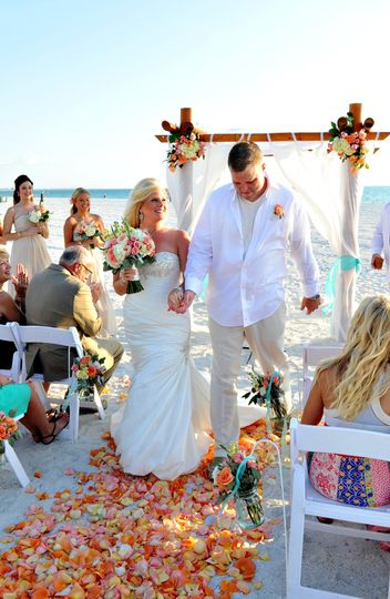Wedding Ceremony TradeWinds Island Grand Beach Resort