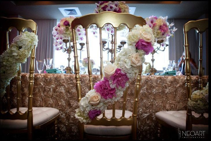 Chairs with decoration