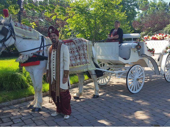 Tmx 1467211487471 Whippany Baraat White Carriage 3 Jackson, New Jersey wedding transportation
