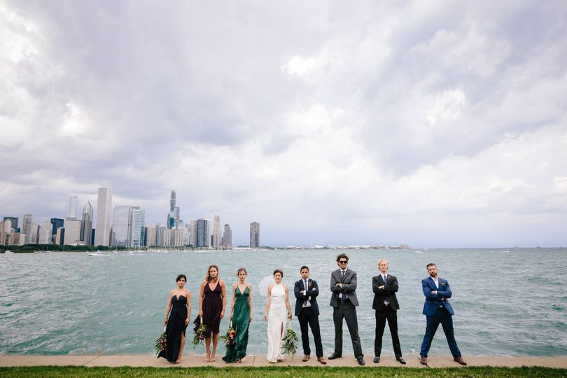 Wedding Party on the lake