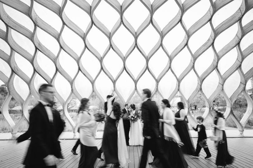 Timeless wedding party photos