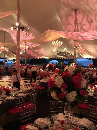 A stunning tent wedding