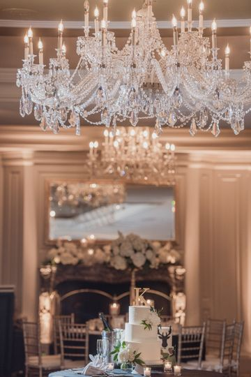 Chandelier and cake