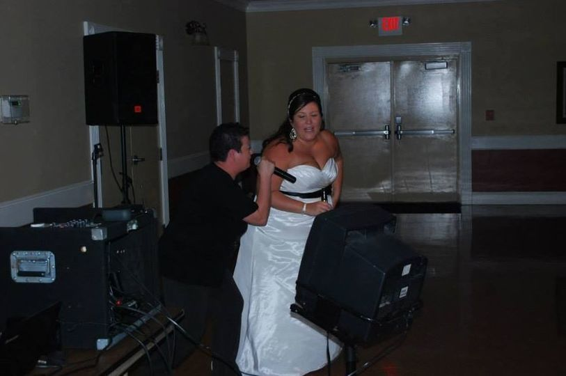 The Bride with the DJ