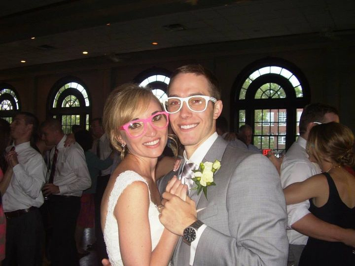 Couple in matching glasses