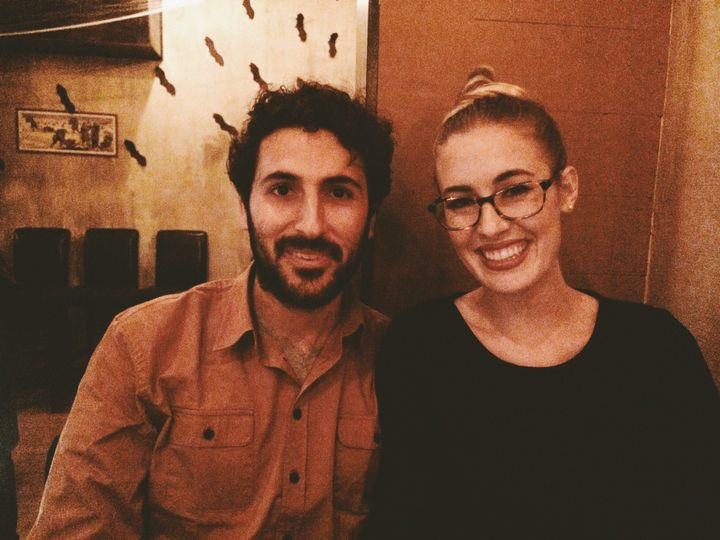 Dinner with my husband and Brandon Smith of Novel Hill studio after a wonderful photography session...