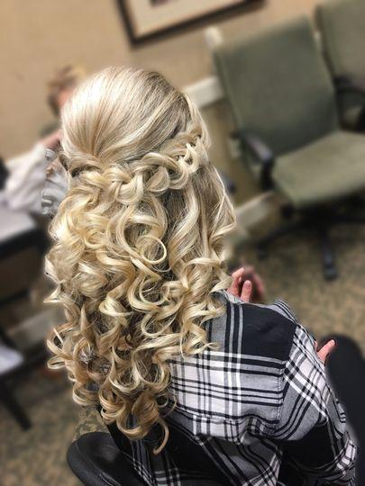 Blond curly locks