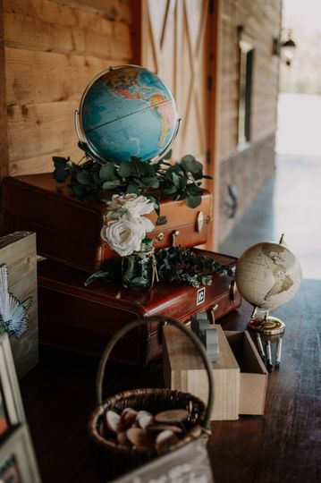 Travel guest book table