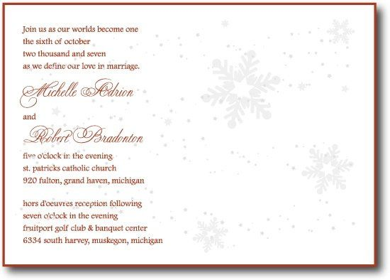 Tmx 1207024865263 Snowflake1 550 Holland wedding invitation