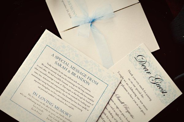 Tmx 1262275657049 SarahprogramandnoteLargeemailview Holland wedding invitation