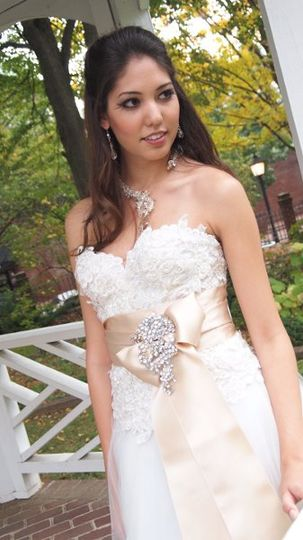 The model is wearing the beautiful Clear Crystal Crochet Neck ring necklace.  Photos by Tait...