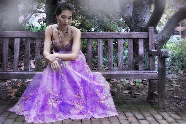 The model is wearing Purple Haze Crochet Necklace with Swarovski Crystal earrings.  Photo by Tait...