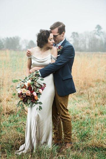Couple in an open field