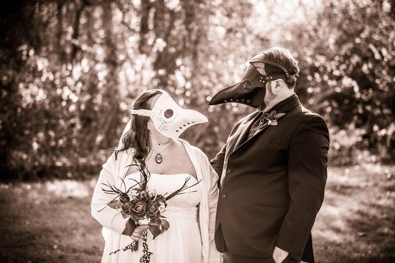 Masked Wedding during Covid-19
