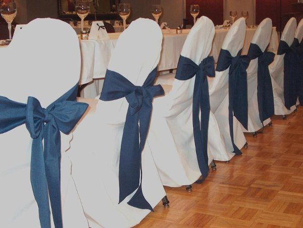 Poly chair covers, $4.00 in any color Poly chair sash, $2.00 in any color