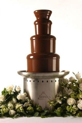 Large chocolate fountain, $95.00  (does not include chocolate)