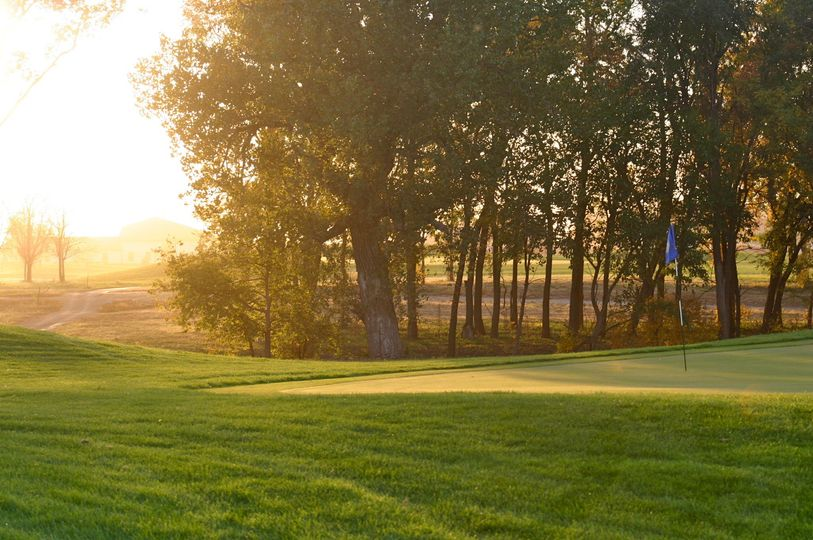 The course at sunset