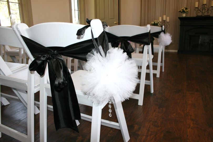 Black chair bows