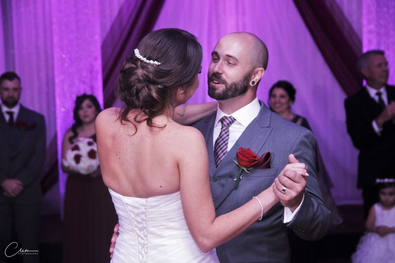 The first dance for this gorgeous couple. Look at lovingly he looks at her. -new-jersey-wedding -...