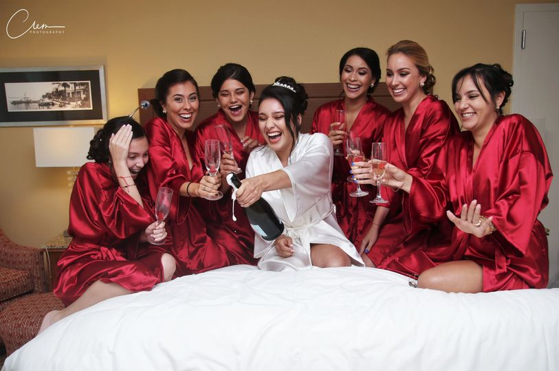 The bride and bride maids having a blast. -new-jersey-wedding - wedding photographer in new york...