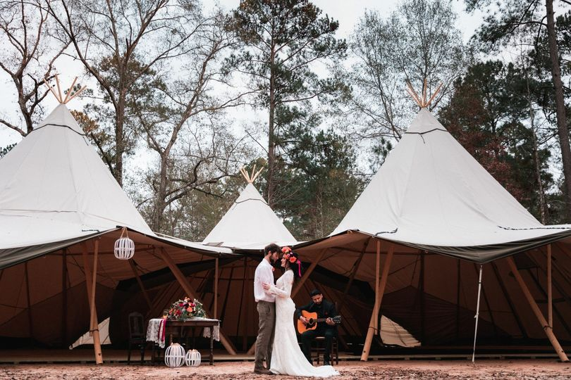 Our three Nordic Tipis!