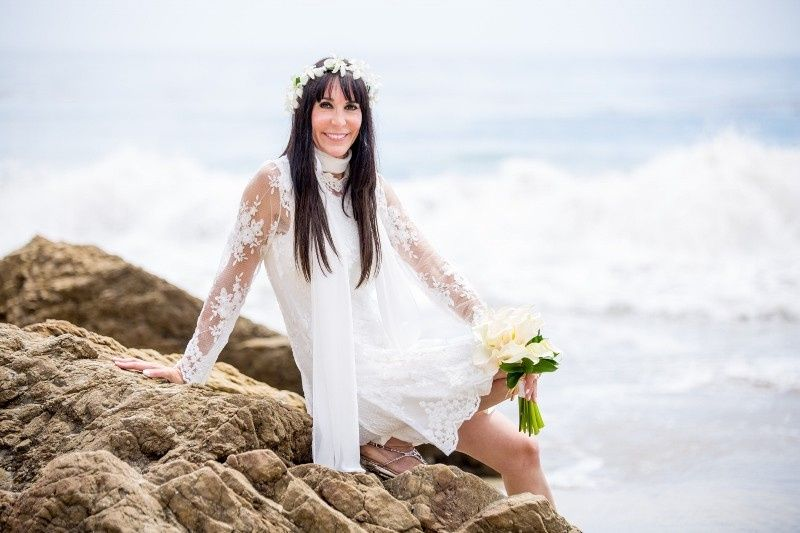 bride on leo carrillo beach