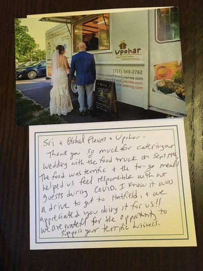 Angela & Ben's letter