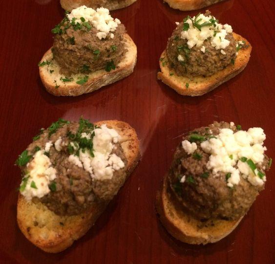 Greek-style mushroom pate