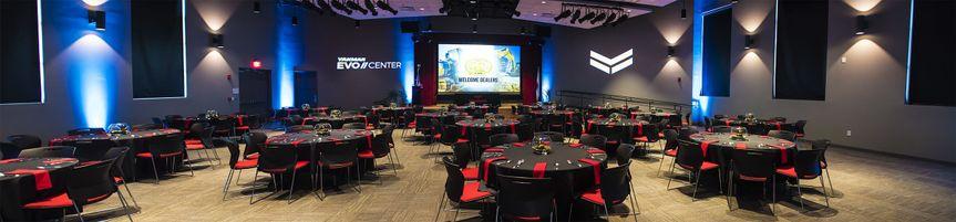 Banquet style set-up in Auditorium