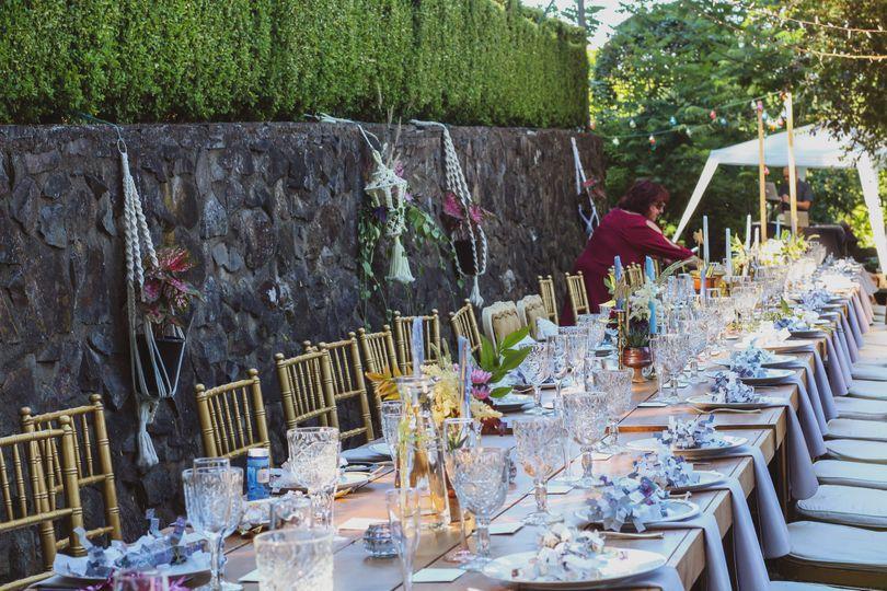 Dreamy dinner reception