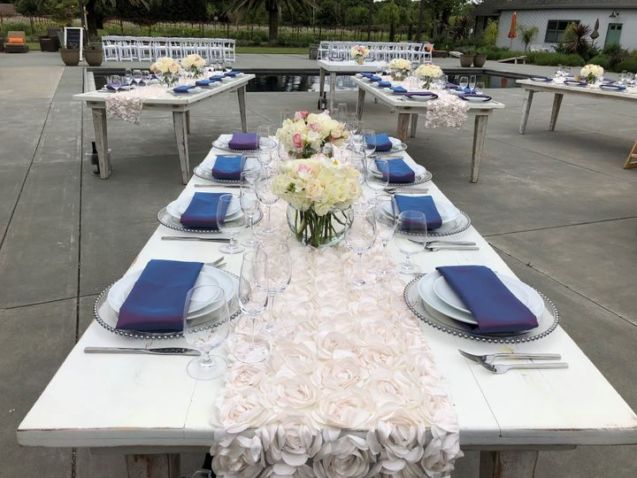 Poolside Napa reception