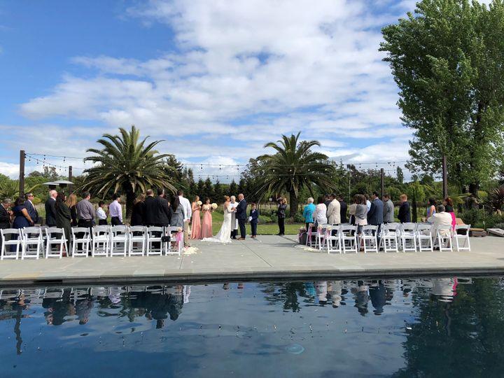 Gorgeous Napa ceremony