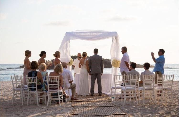 Beach ceremony wedding